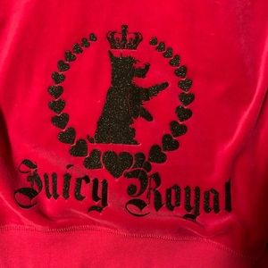 Hot pink Juicy Couture velour zip-up hoodie